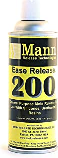 2 Pack Mann Ease Release 200 14 fl. oz - Mold Release for Silicones, Epoxy Resin, Rubber, Polyester Resins, Polyurethane elastomers
