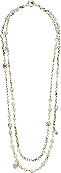 White Pearl Strand Necklace