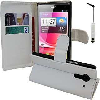 VCOMP Lot Pack skärmskydd för Acer Liquid Z5 Duos - vit + minikylsa