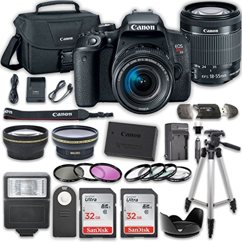 Canon EOS T7i DSLR Camera with 18-55mm IS STM Lens...