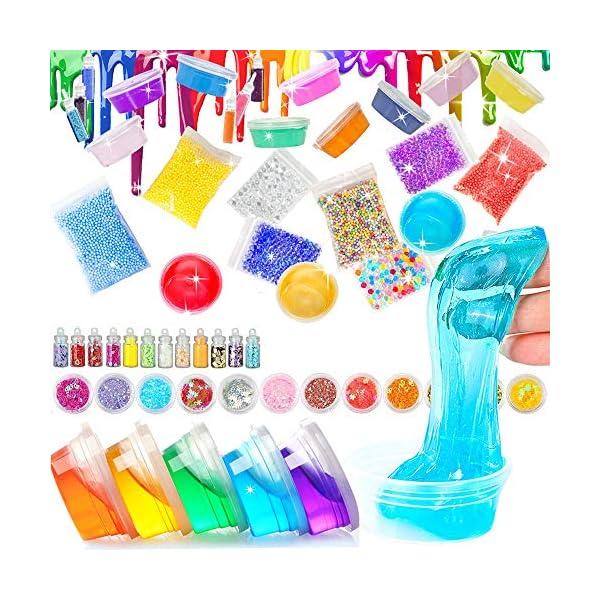Unicorn Slime Kit - Slime Supplies Slime Making Kit for Girls Boys, Kids Art Craft, Crystal Clear Slime, Glitter… 5