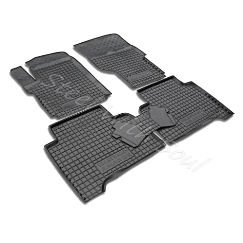 Fully Tailored Rubber / Set of 5 Car Floor Mats Carpet for VOLKSWAGEN AMAROK 2011—