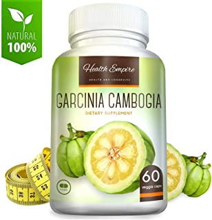 Pure Garcinia Cambogia Extract w/ 60% HCA - Luxury Garcinia Cambogia - Garcinia Cambogia Pure Extract Capsules for Metabolism Support - Non GMO & Gluten Free - Made in USA - 60 Garcinia Pills
