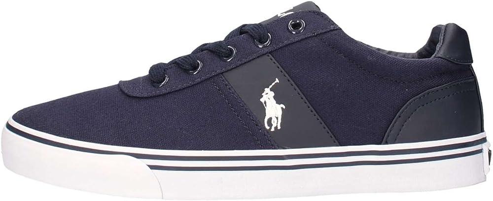 Sneakers basse ralph lauren,scarpe sportive per donna,in tela e pelle 816176919899
