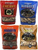 Western BBQ Smoking Wood Chips Variety Pack Bundle (4) Cherry, Hickory, Mesquite and Pecan Flavors...
