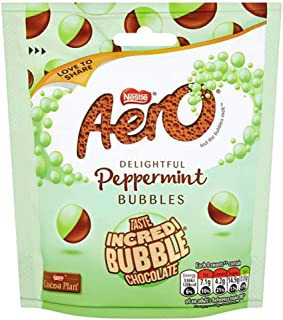 Original Aero Bubbles Peppermint Pouch Imported From The UK England British Chocolate Nestle Aero Bubbles Peppermint 102g