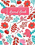 Property Manager's Record Book: For Landlord Record Keeping & Log Book - All-In-One Notebook - Insurance, Financing, Tenants, Maintenance - ... - Large (8.5 x 11 inches) - Cute Pink Floral