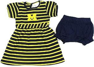 Baby Girls Michigan Wolverines Dress & Bloomers Size 12 Months