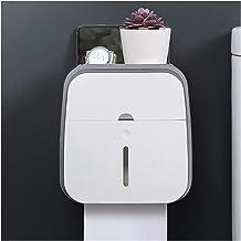 Waterdichte toiletrolhouder Shelf Double-layer Wall Mount Roll Paper Tube Storage Box Creative Tray Badkamer Tissue Box (C...