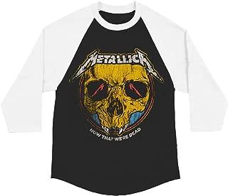 Metallica Men's Now That We're Dead Raglan Baseball Jersey Black/White