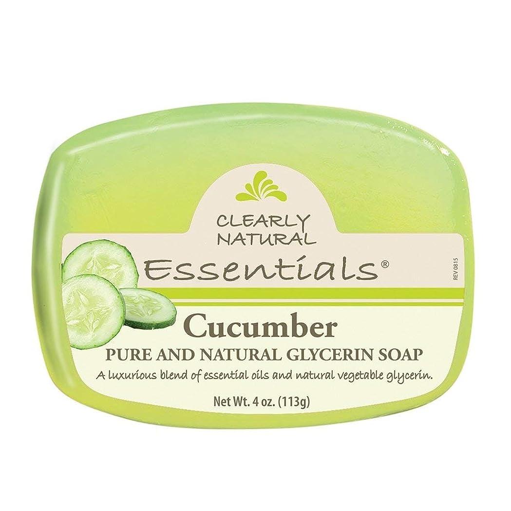 厚さ地味な振りかけるClearly Natural 石鹸、グリセリン、Cucmbr、4オンス、6パック
