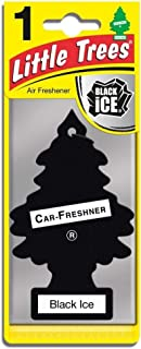 Car Freshner 31152 Black Little Trees Car and House Hanging Freshener, Ice (Pack of 12), 12 Pack
