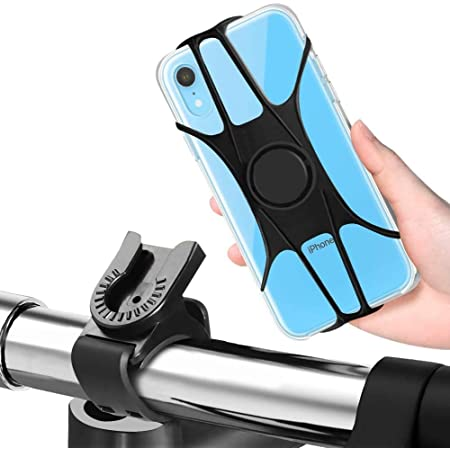 Samsung S20 S20 360/° Rotation Bike Motorcycle Handlebar Phone Holder with Diagonal Bracket Design for iPhone 11 Pro Max Xr XR Xs X 8 7 6S Plus and More 4-6.8 Phone EXSHOW Bike Cell Phone Mount