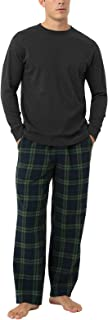 LAPASA Men's 100% Cotton Flannel Pajama Set Plaid PJ Bottoms With Pockets and Drawstring M79/M95