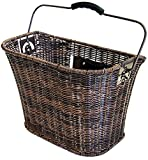 Büchel Fahrrad-Lenkerkorb, hochwertiges Polyrattan, braun, 40503910