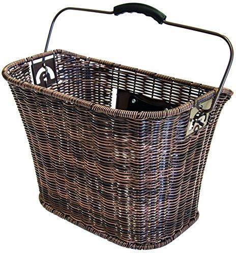 Büchel Fahrrad-Lenkerkorb, hochwertiges Polyrattan