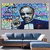 hetingyue Arte Callejero Signo de dólar Arte Estatua Lienzo Pintura Cartel Sala Pintura Pared Cuadro sin Marco Pintura 20x30 cm