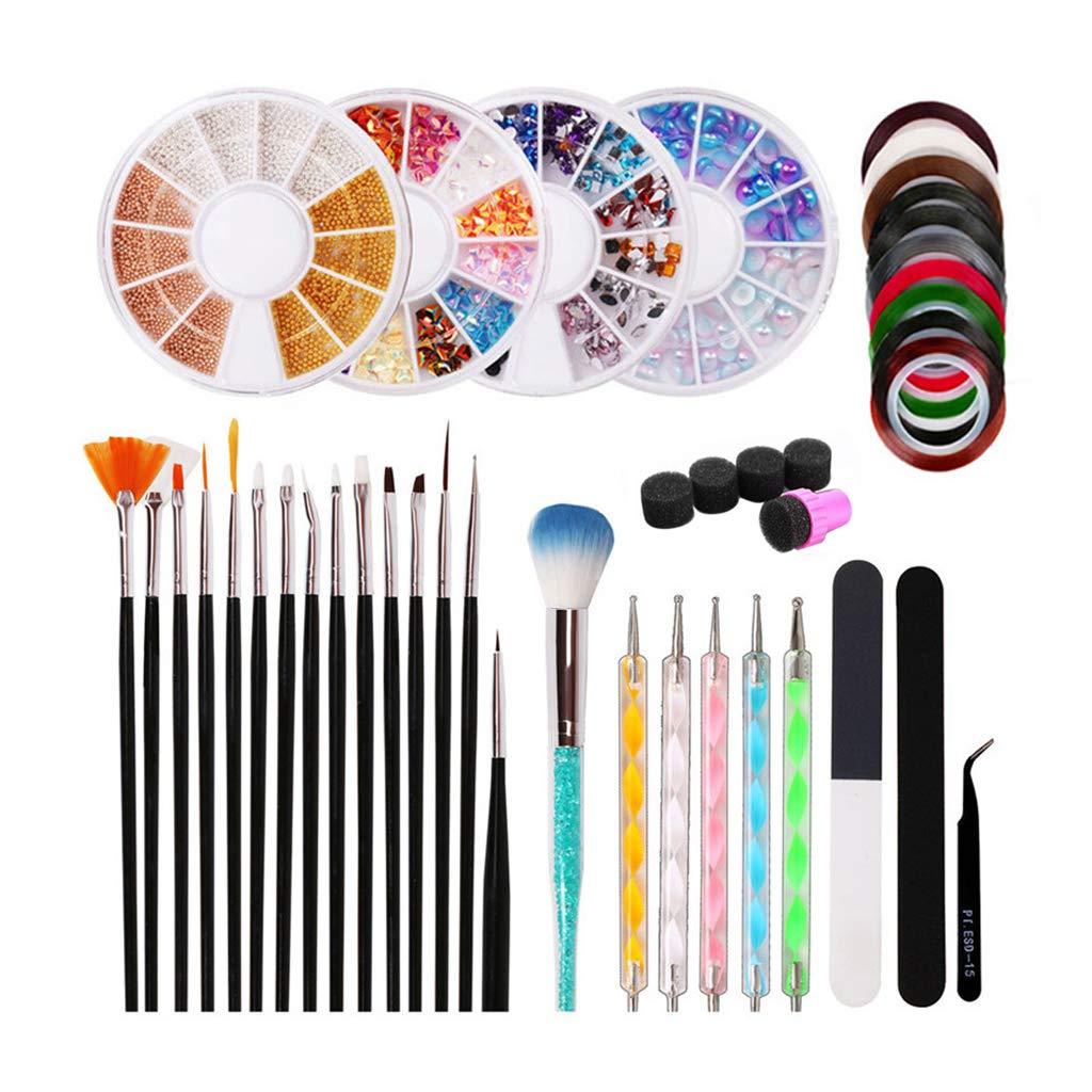 Jutao 39 Pcs Nail Art D Kit Ranking Inexpensive TOP18 Professional Tools Stamping