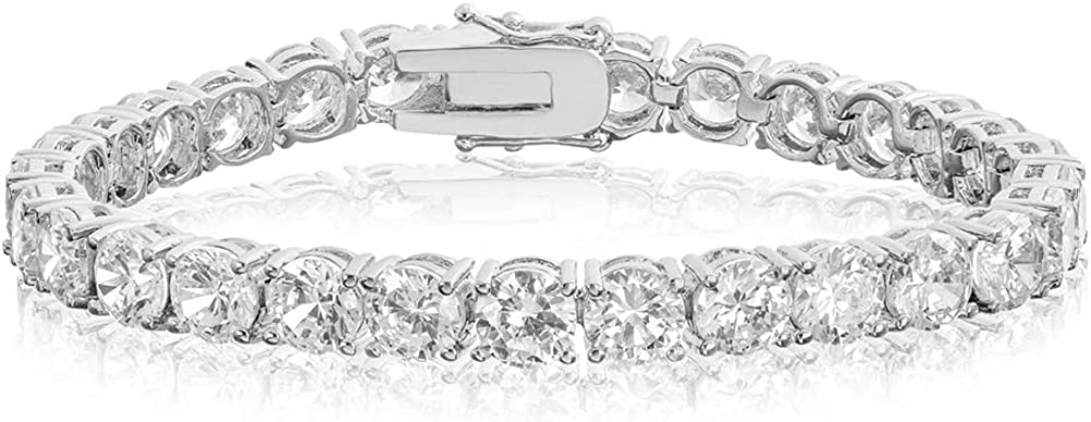 San Antonio Mall Raleigh Mall NYC Sterling Women's Silver .925 Cubic Zi Clear Crystal
