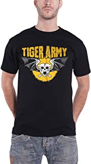 Tiger Army T Shirt Skull Tiger Band Logo 新しい 公式 メンズ