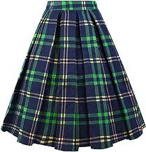 plaid skirt long