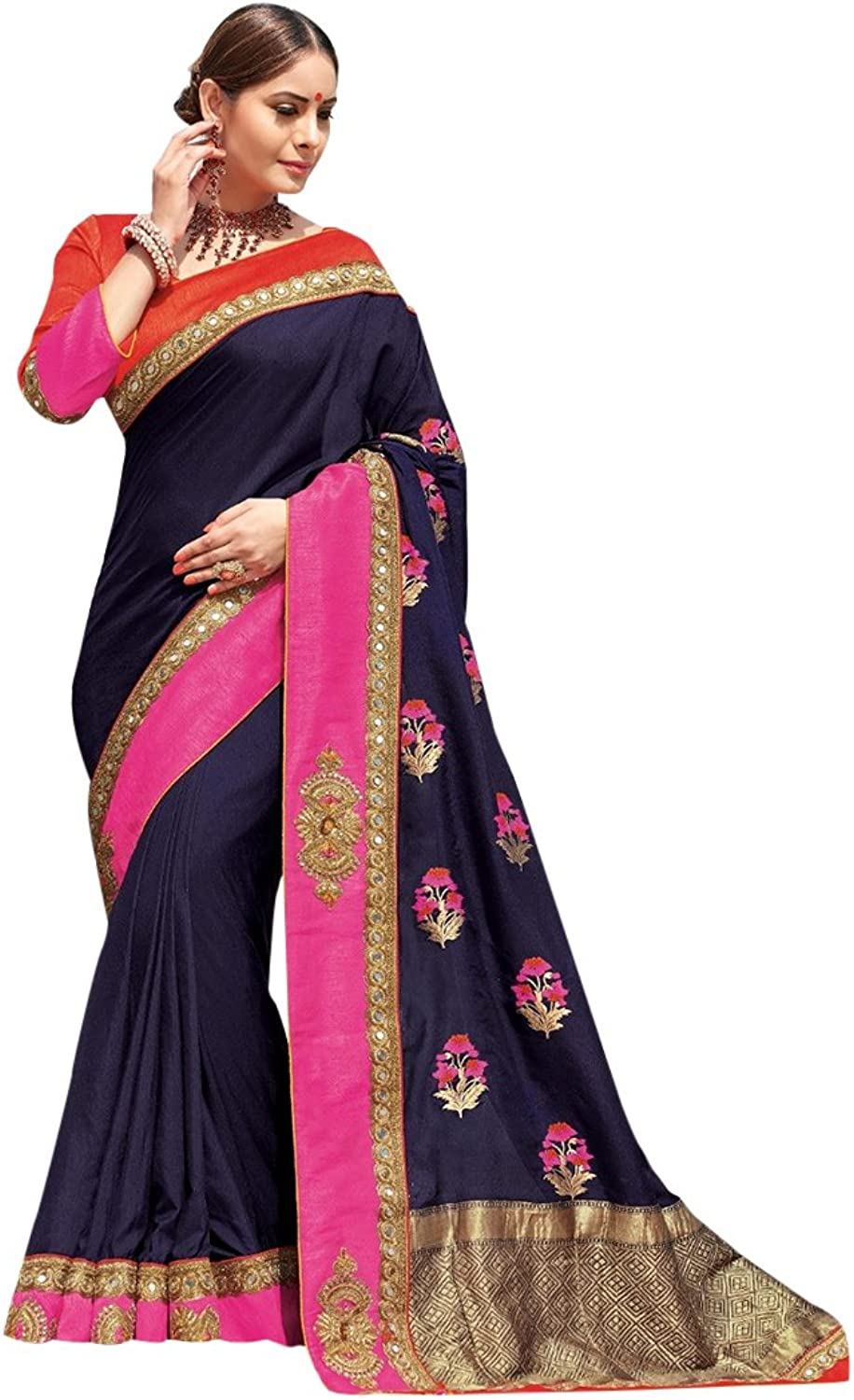 Bollywood Bridal Saree Sari for Women Collection Blouse Wedding Party Wear Ceremony 822 22