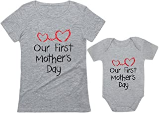 Our First Mother's Day Outfit for Mom & Baby Matching Set...