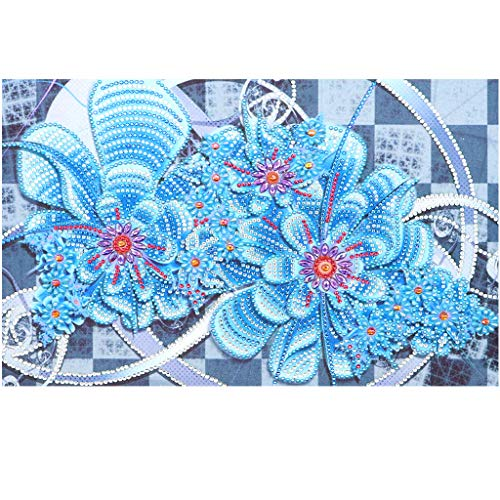 Kit de pintura de diamantes 5D para manualidades,diamante de cubo de cristal de rubik kit flor de punto de cruz, lienzo para decoración de pared, pegatinas para el hogar, 40 x 30 cm