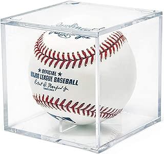 AIFUSI Baseball Display Case, UV Protected Acrylic Cube Baseball Holder Square Clear Box Memorabilia Display Storage Sports Official Baseball Autograph Display Case - Fits Official Size Ball