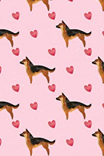 Kawaii Journal: I Love German Shepherd Dogs - Notebook for Students - Blank College-Ruled Lines for School (Kawaii Diary for Journaling & Writing Pink Cover)