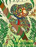 Animaux: Livre de Coloriage Adultes 40 Merveilleux Dessins apaisants et relaxants Anti-Stress