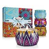 mreechan Vela perfumada,perfumada,Vela perfumada Natural Wake Box 4...