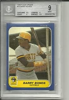 1986 fleer update barry bonds rookie graded bgs 9