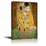wall26 - The Kiss by Gustav Klimt Painting - Canvas Art Wall Art - 24'x36'