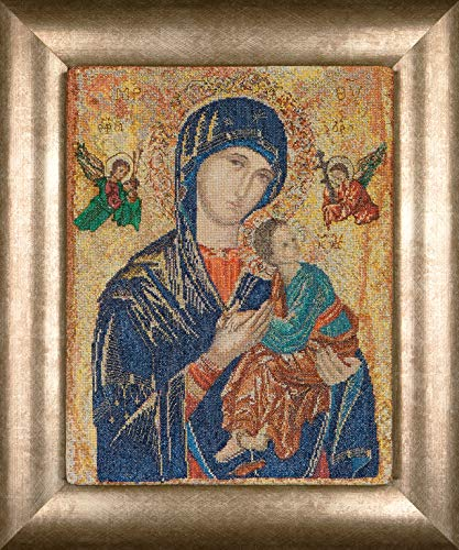 Thea Gouverneur - Counted Cross Stitch Kit - Embroidery Kit - 551A - Pre-Sorted DMC Threads - Our Lady of Perpetual Help - Aida - 9.8 x 12.6inch - DIY Kit
