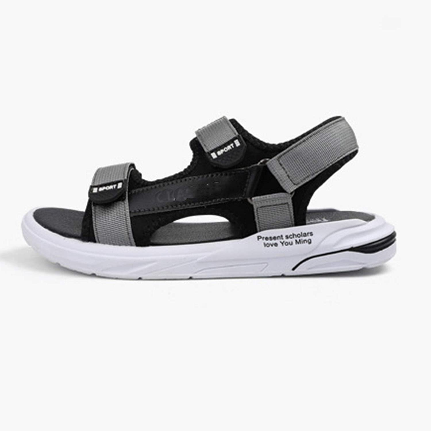 Women Outdoor Walking Sandals Womens Athletic Hiking Open Toe Sports Wedge Wide Sandles with Adjustable Buckle Lightweight Stylish Summer Beach Water Shoes (Color : Gray, Size : 44)