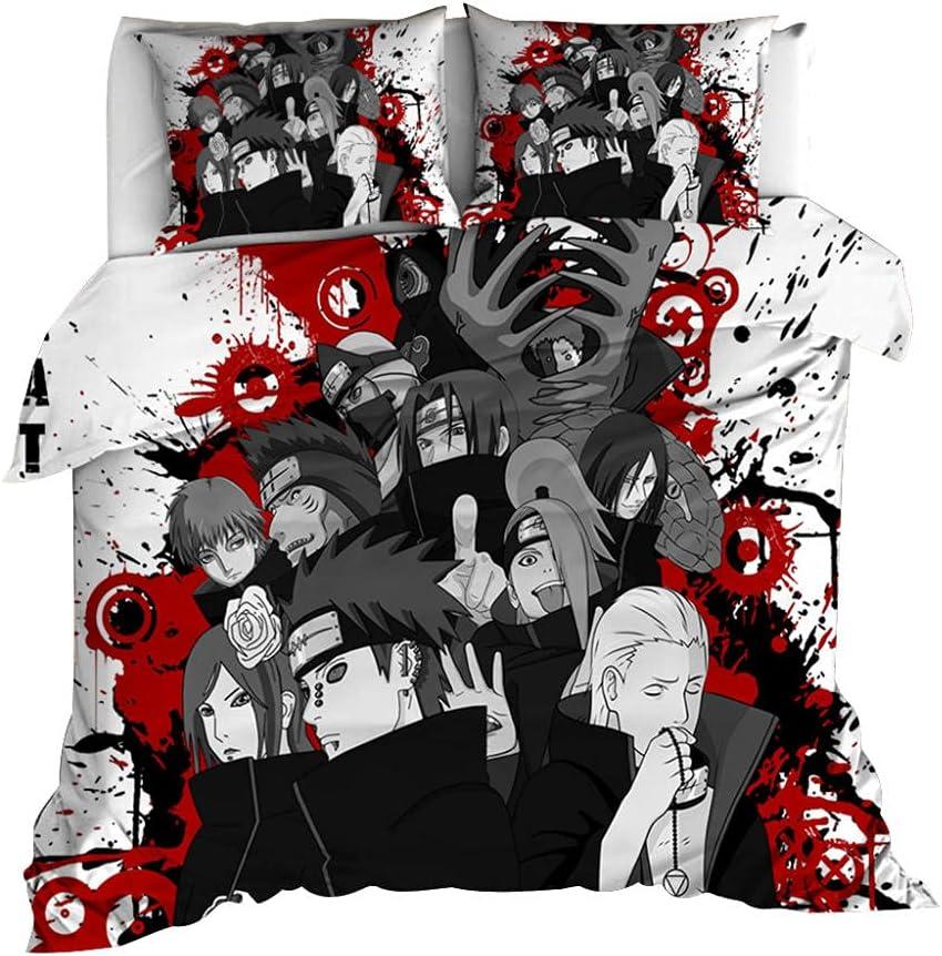 Naruto Children's Duvet Cover 100% of Cotton Set Super-cheap Child 3-Piece Latest item