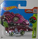 Purple FANGSTER Hot Wheels 2016 Dino Riders Series 1:64 Scale Collectible Die Cast Metal Toy Car Model #4/5 on International Short Card