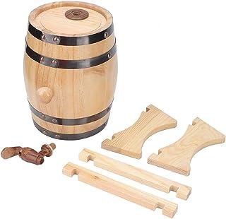 Baril de vin, 1.5L ménage Mini pin bois baril de vin baril de bière en bois équipement de brassage seau à vin pour ménage,...