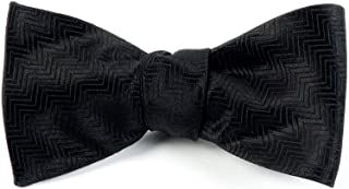 The Tie Bar Herringbone 100% Woven Silk Bow Tie