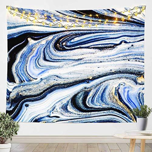 Tapiz de mármol para colgar en la pared con purpurina para niños, niñas, adultos, manta de pared de mármol, decoración ultra suave, con textura de mármol, manta de cama extragrande, 152 x 201