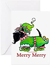 CafePress - Merry Merry Scottish Terrier Greeting Cards (Pk Of - Greeting Card (20-pack), Note Card with Blank Inside, Birthday Card Glossy