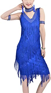 Whitewed 20`s Great Gatsby Style Beaded Vintage Halloween Party Clothes Dresses