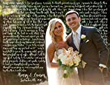 Personalized Wedding or Anniversary Gift- Your Favorite Wedding Photo as Custom Photo Canvas Art- Personalized Wedding Photo Print with vows, lyrics, poem, quotes, Personal/Unique Wall Decor
