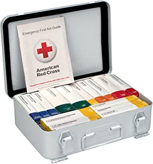 First Aid Only 90568 16 Unit ANSI A First Aid Kit, Metal, Weatherproof