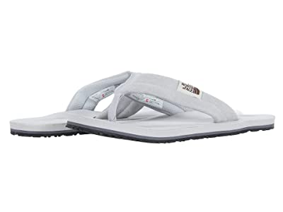 The North Face Base Camp Leather Flip-Flop (Micro Chip Grey/Quiet Shade Grey) Men