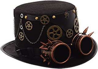 GRACEART Unisex Steampunk Top Hats with Goggles (Various styles)