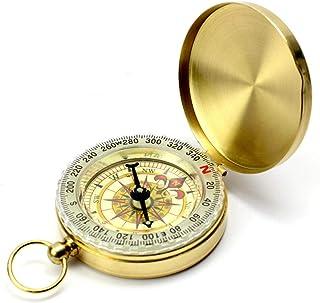 NIUASH Compass, Compass Survival, Compass Hiking,Copper Compass,Pocket Watch Compass,Waterproof Camping Survival Luminous ...