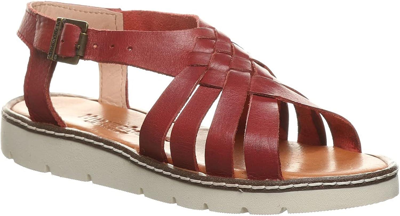 BEARPAW Women's Leah Black Sandal