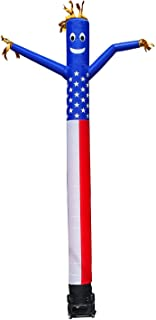 20ft Advertising Inflatable Tube Men Blow Up Giant Waving Arm Fly Puppet Christmas Halloween Decorative Signs for Business Store Party (No Blower)